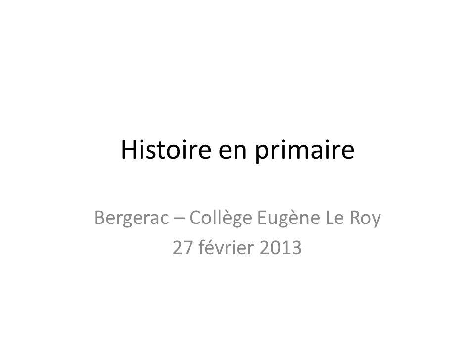 Bergerac – Collège Eugène Le Roy 27 février 2013