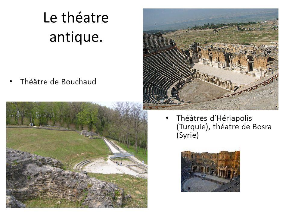 Le théatre antique. Théâtre de Bouchaud