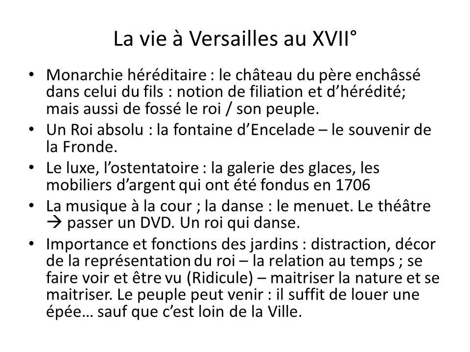 La vie à Versailles au XVII°