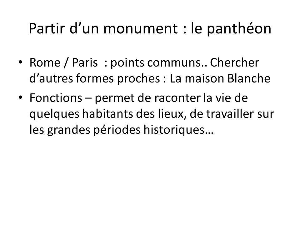 Partir d'un monument : le panthéon