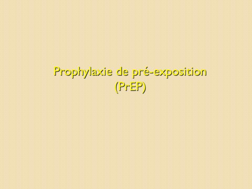 Prophylaxie de pré-exposition (PrEP)