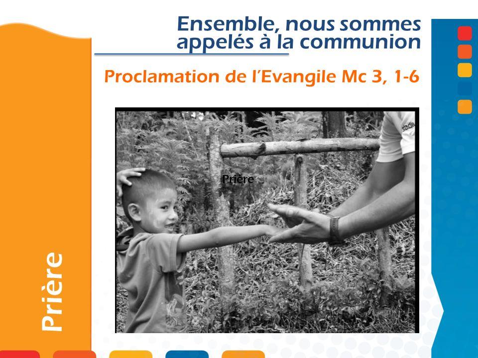Proclamation de l'Evangile Mc 3, 1-6