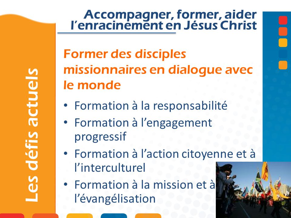 Former des disciples missionnaires en dialogue avec le monde
