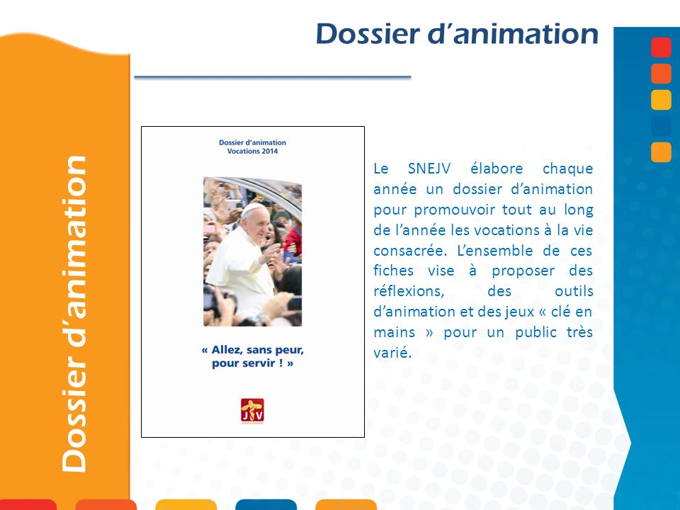 Dossier d'animation Dossier d'animation