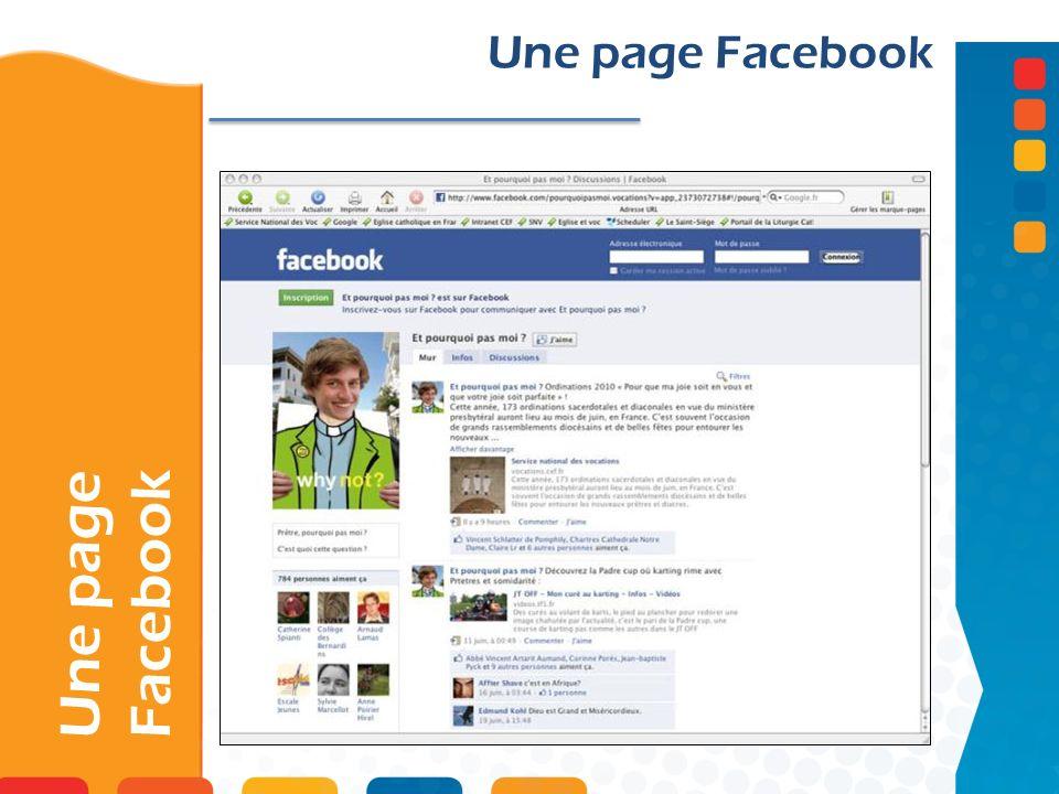 Une page Facebook Une page Facebook