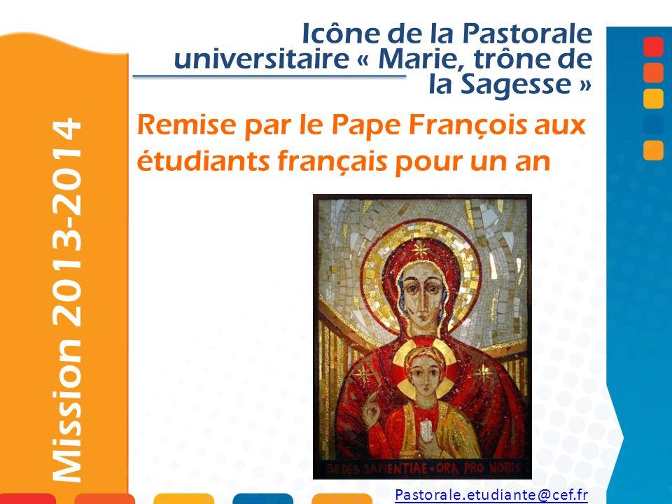 Remise par le Pape François aux étudiants français pour un an