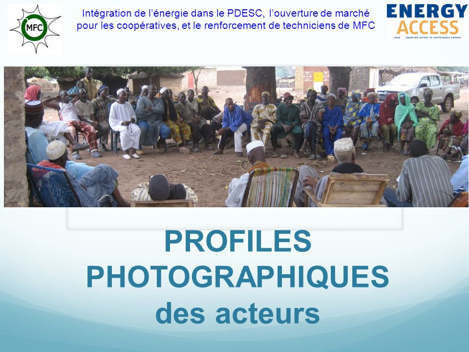 PROFILES PHOTOGRAPHIQUES des acteurs