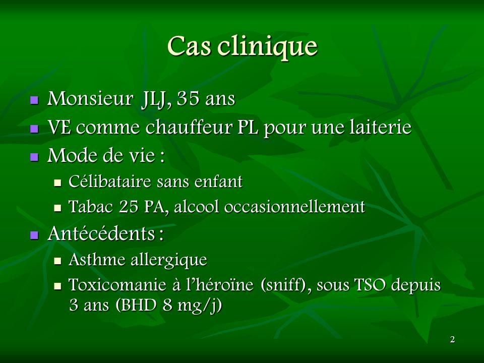 Cas clinique Monsieur JLJ, 35 ans