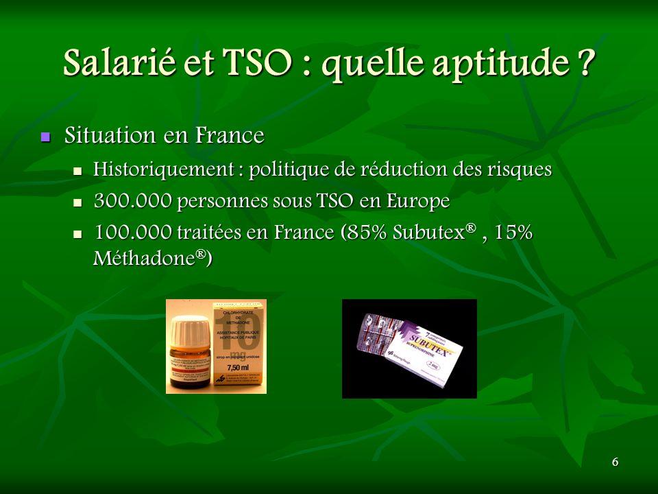 Salarié et TSO : quelle aptitude