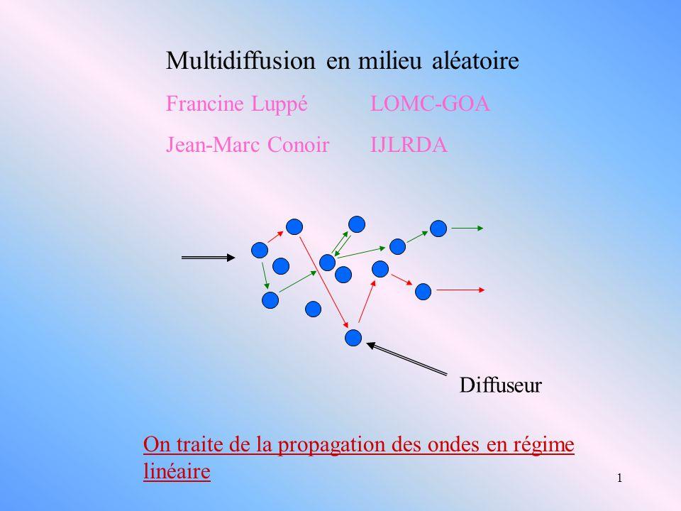 Multidiffusion en milieu aléatoire