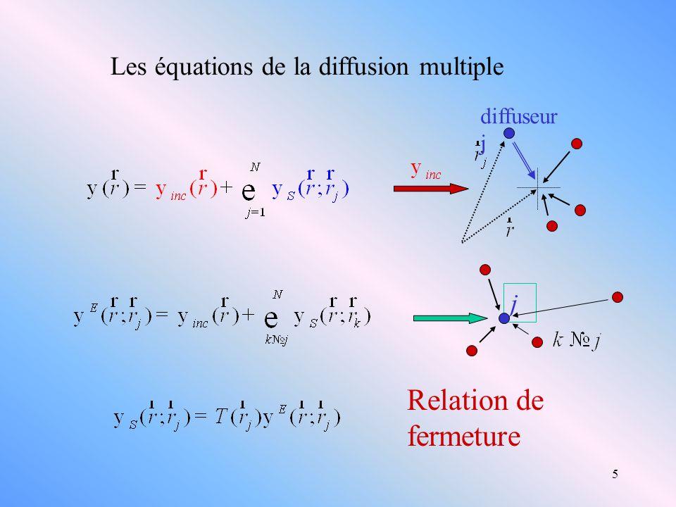 Relation de fermeture Les équations de la diffusion multiple j