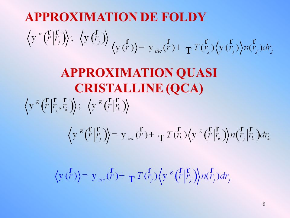 APPROXIMATION QUASI CRISTALLINE (QCA)