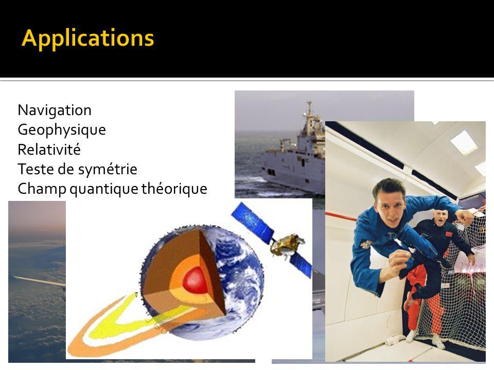 Applications Navigation Geophysique Relativité Teste de symétrie