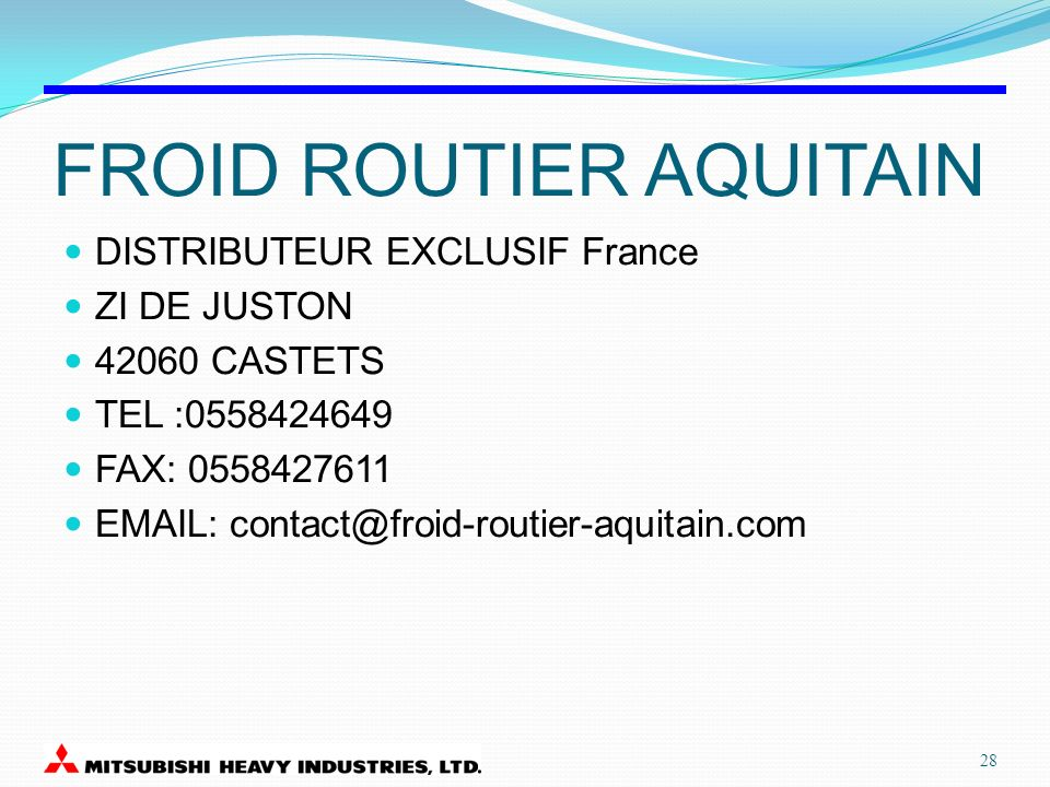 FROID ROUTIER AQUITAIN