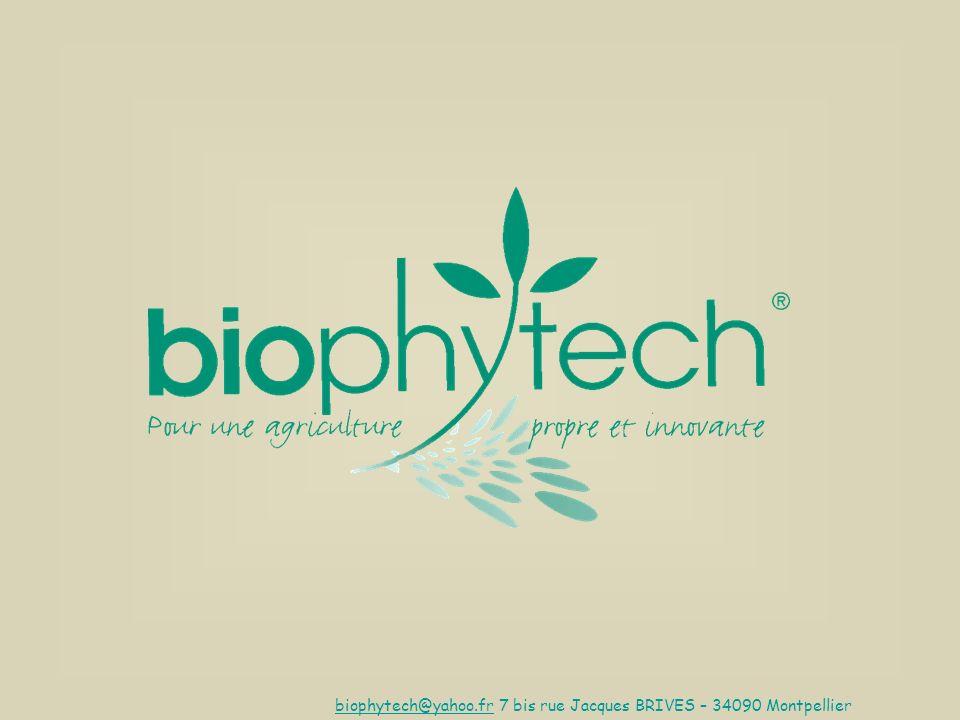 biophytech@yahoo.fr 7 bis rue Jacques BRIVES – 34090 Montpellier