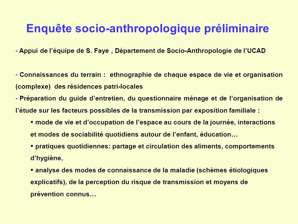 Enquête socio-anthropologique préliminaire