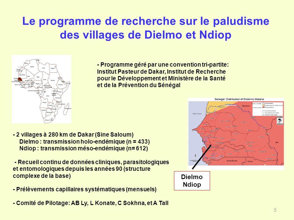 Le programme de recherche sur le paludisme des villages de Dielmo et Ndiop