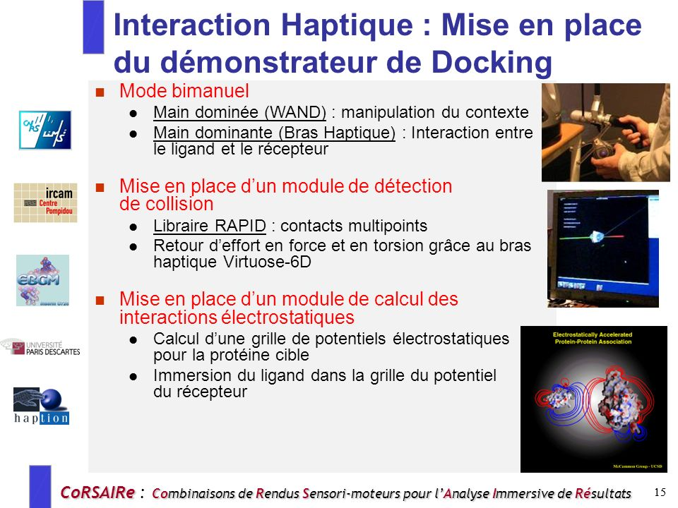 Interaction Haptique : Mise en place du démonstrateur de Docking