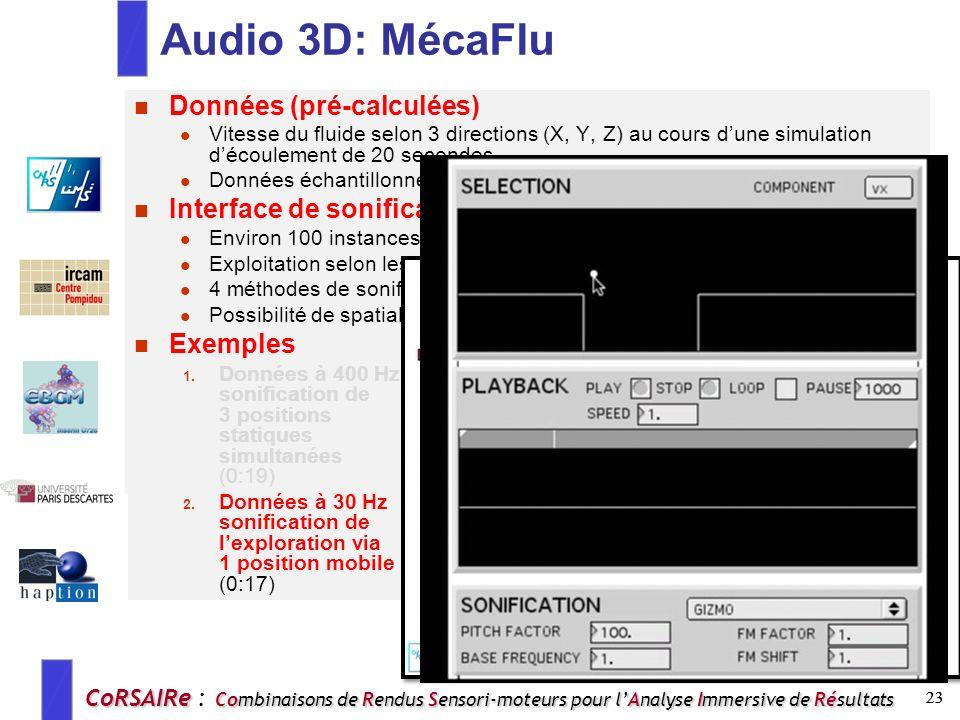 Audio 3D: MécaFlu Données (pré-calculées)