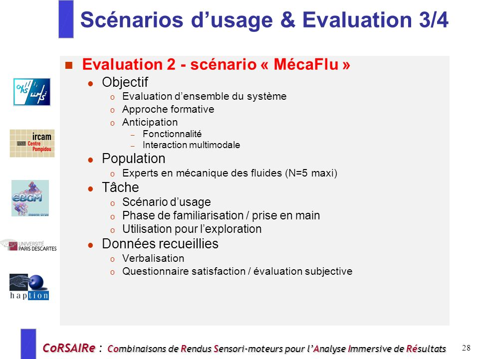 Scénarios d'usage & Evaluation 3/4
