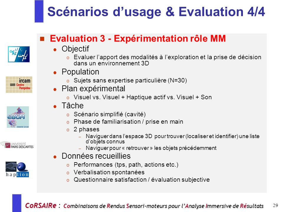 Scénarios d'usage & Evaluation 4/4