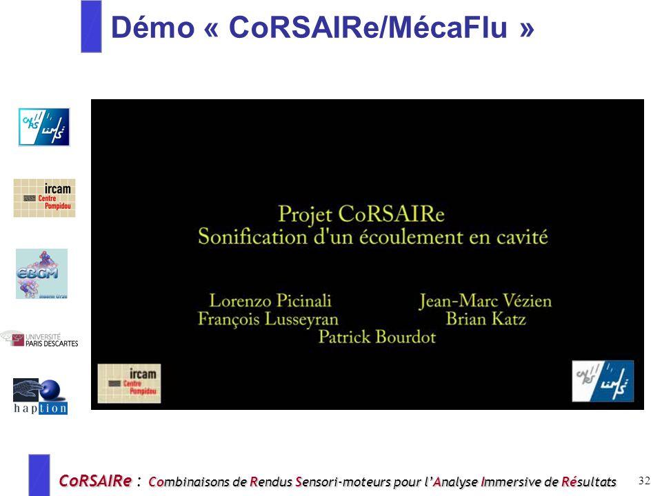 Démo « CoRSAIRe/MécaFlu »
