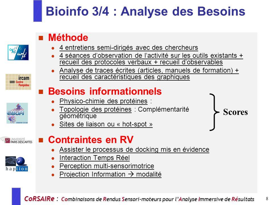 Bioinfo 3/4 : Analyse des Besoins