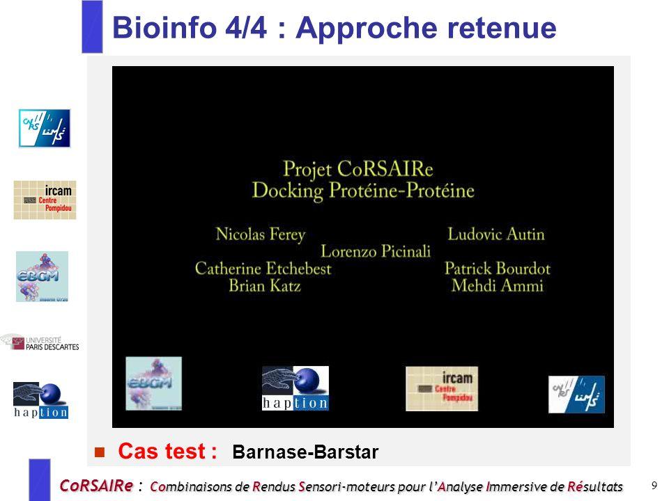 Bioinfo 4/4 : Approche retenue