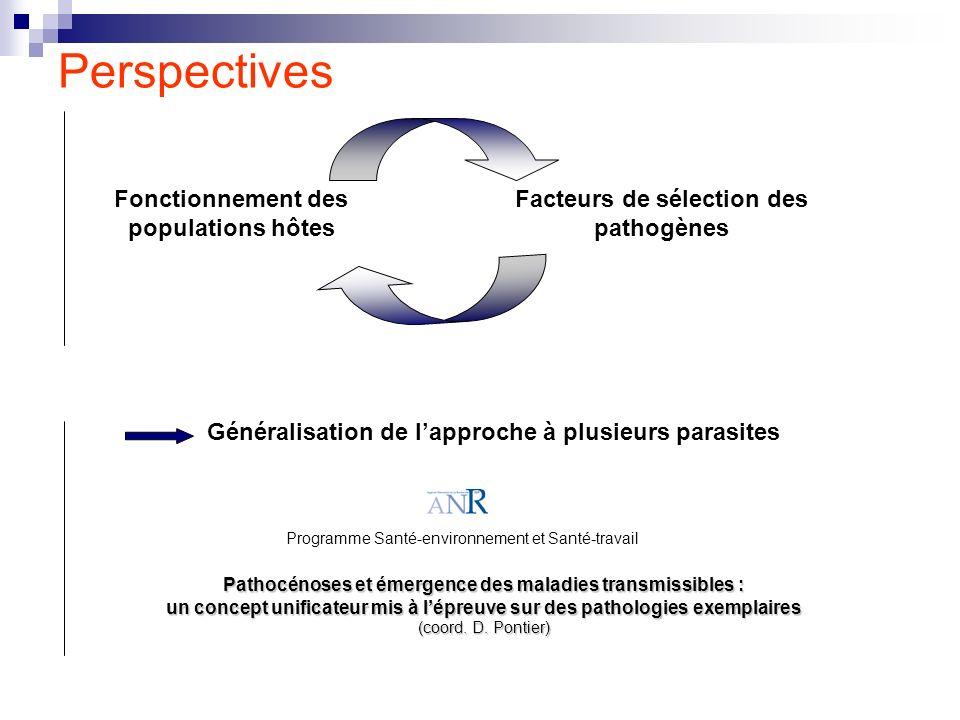 Perspectives Fonctionnement des populations hôtes