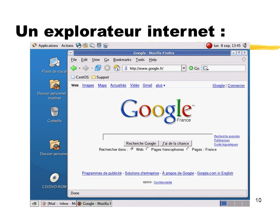 Un explorateur internet :