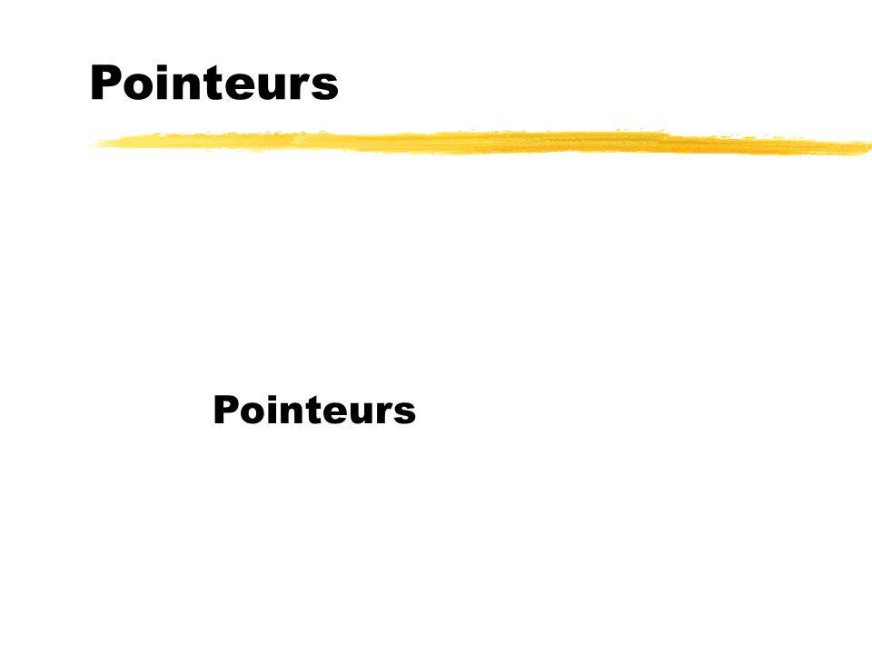 Pointeurs Pointeurs 101