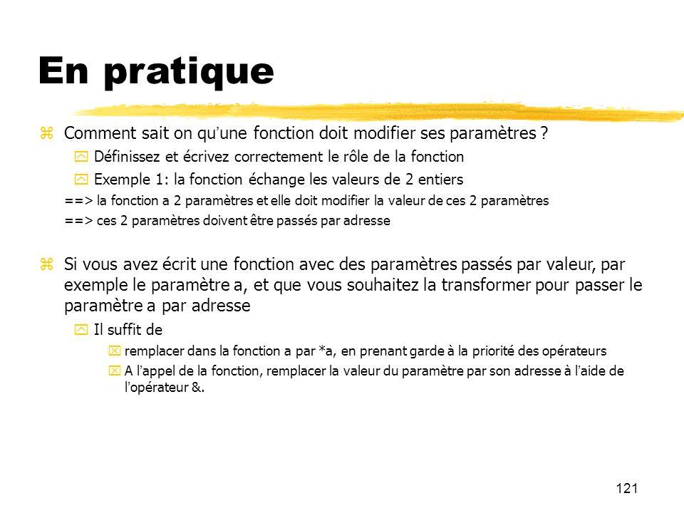 En pratique Comment sait on qu'une fonction doit modifier ses paramètres Définissez et écrivez correctement le rôle de la fonction.