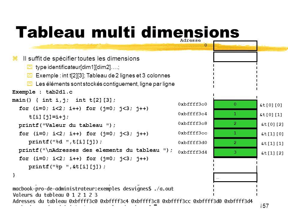 Tableau multi dimensions