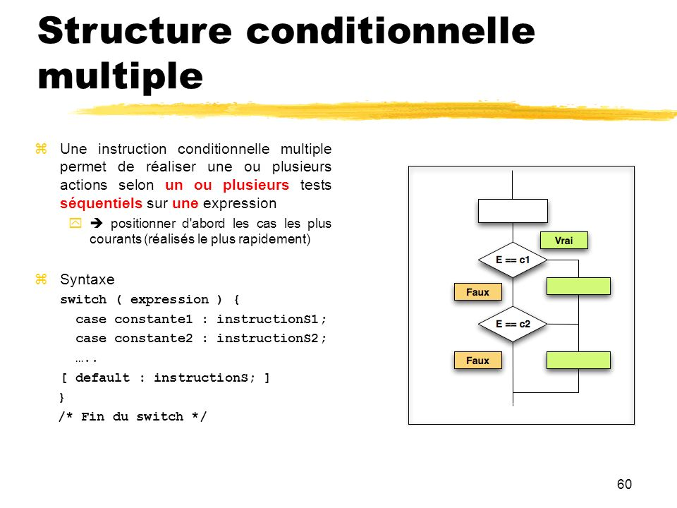 Structure conditionnelle multiple