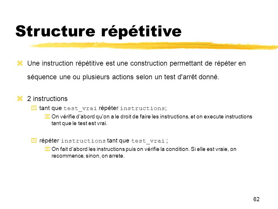 Structure répétitive