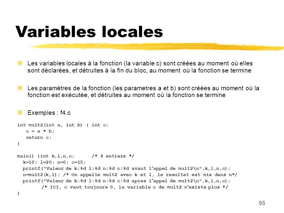 Variables locales