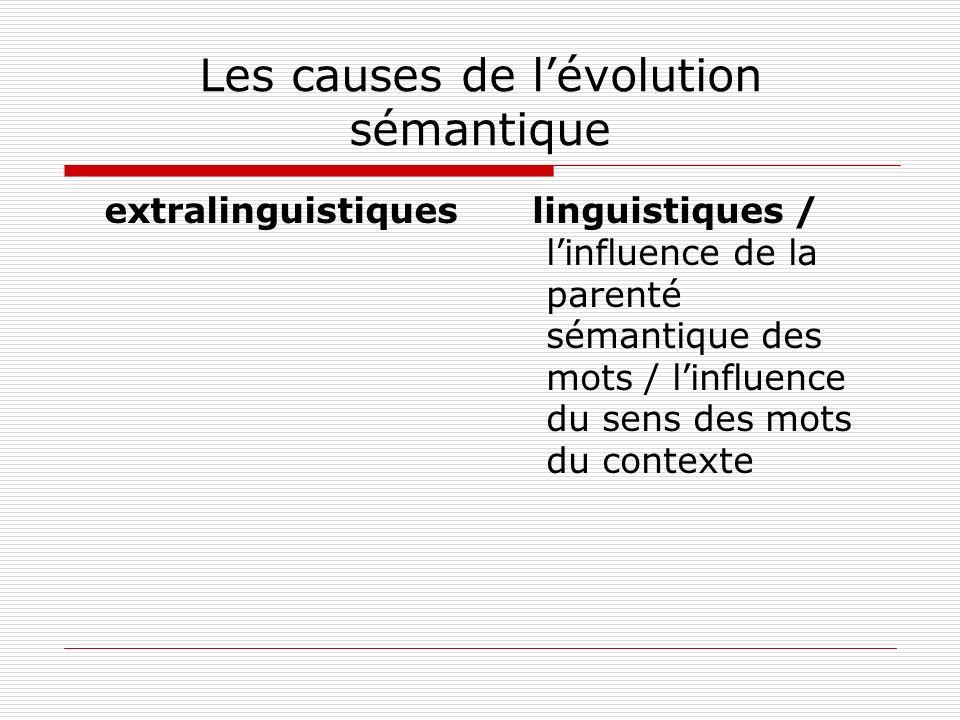 Les causes de l'évolution sémantique