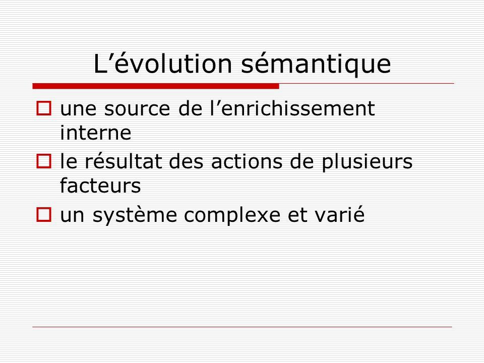 L'évolution sémantique