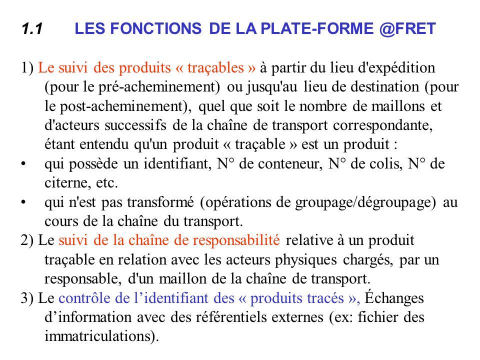 1.1 LES FONCTIONS DE LA PLATE-FORME @FRET