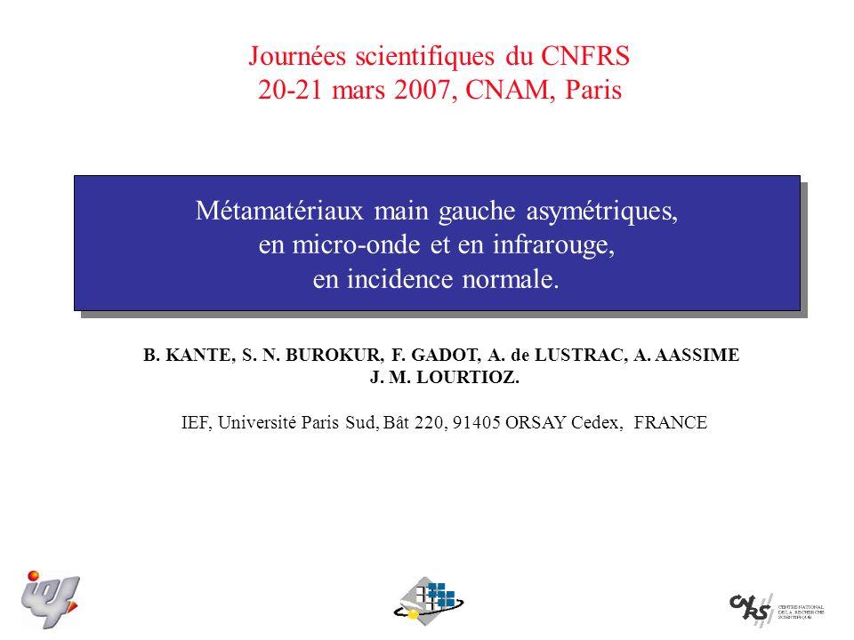 B. KANTE, S. N. BUROKUR, F. GADOT, A. de LUSTRAC, A. AASSIME