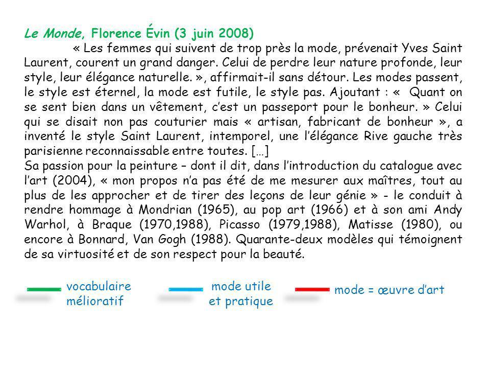 Le Monde, Florence Évin (3 juin 2008)