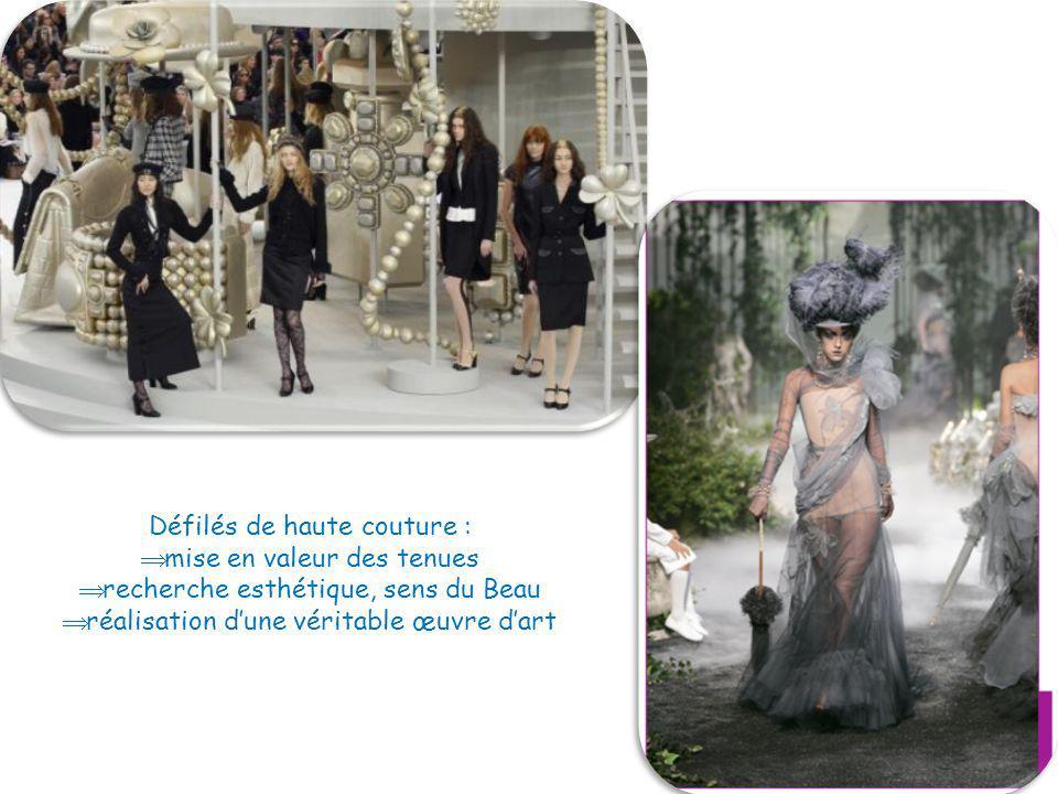 Défilés de haute couture : mise en valeur des tenues