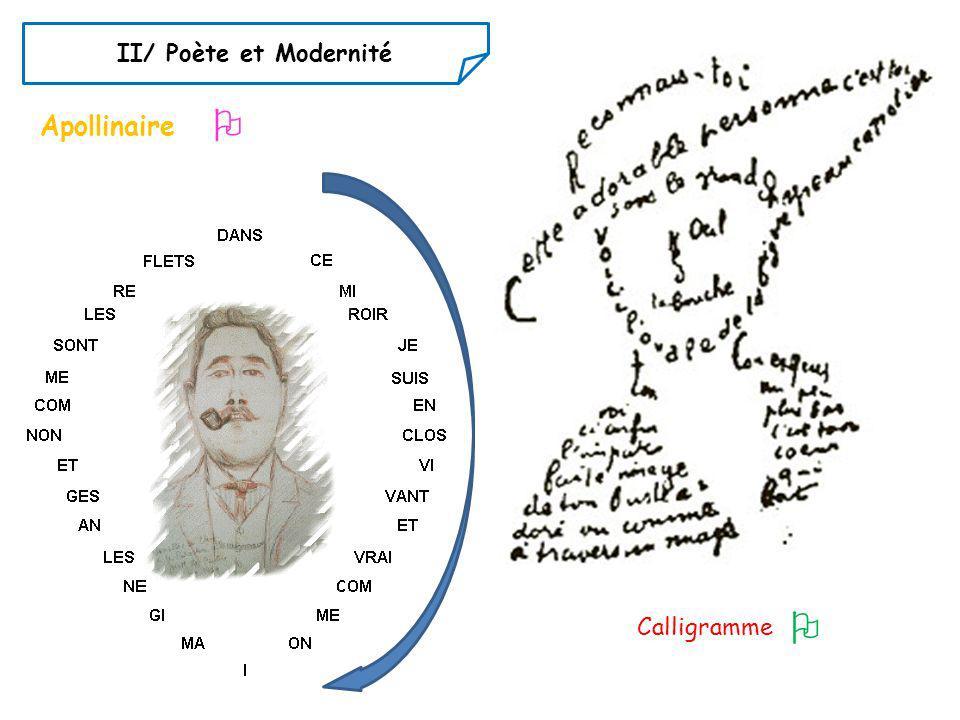 II/ Poète et Modernité  Apollinaire  Calligramme