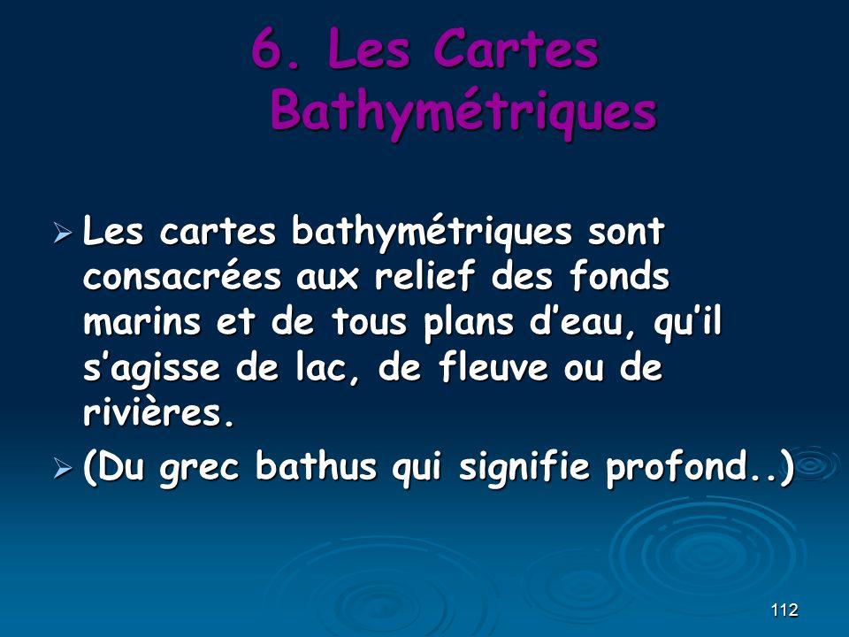 Les Cartes Bathymétriques