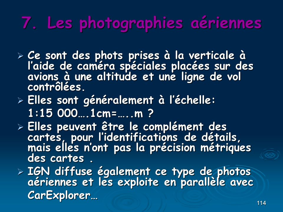 Les photographies aériennes