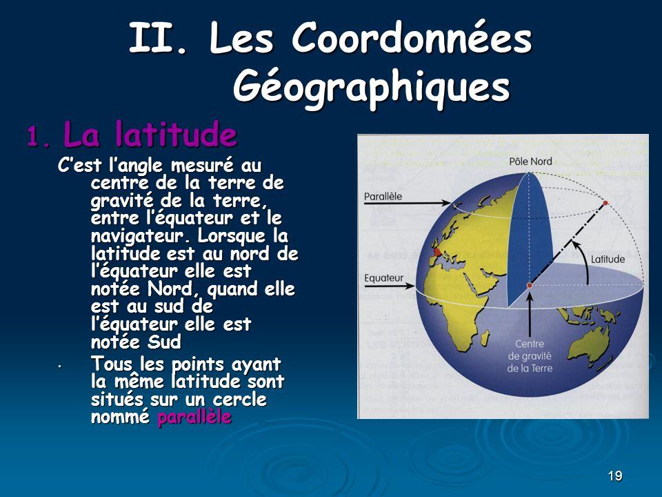 Les Coordonnées Géographiques