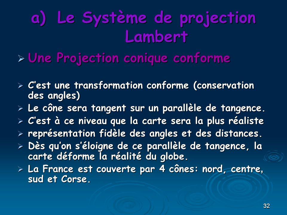 Le Système de projection Lambert