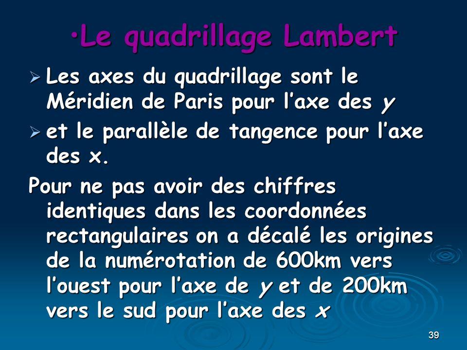 Le quadrillage Lambert