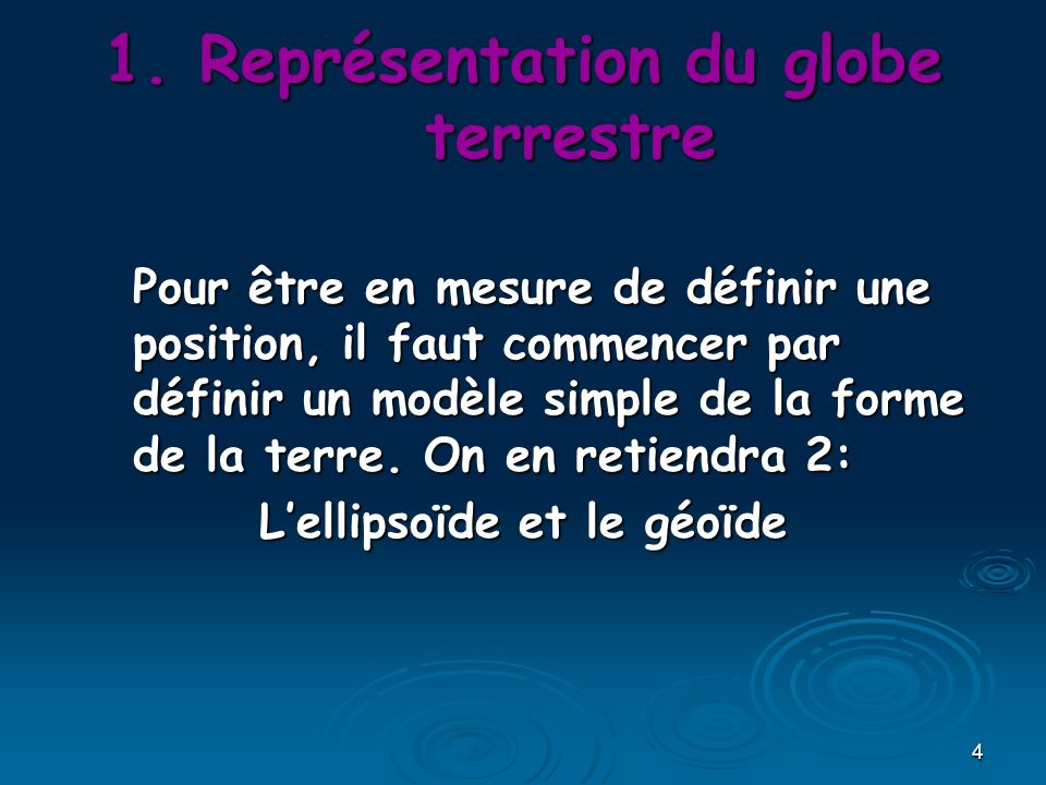 Représentation du globe terrestre