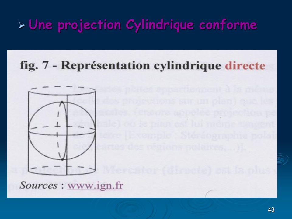 Une projection Cylindrique conforme